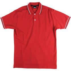 textil Herre Polo-t-shirts m. korte ærmer Key Up 2Q70G 0001 Rød