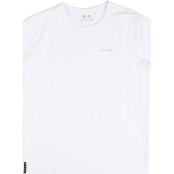 textil Herre T-shirts m. korte ærmer Key Up 2G69S 0001 hvid