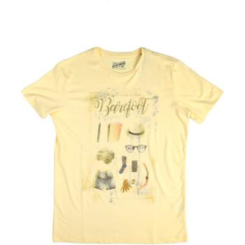 textil Herre T-shirts m. korte ærmer Key Up 2G84S 0001 Gul