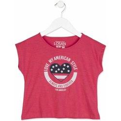 textil Pige T-shirts m. korte ærmer Losan 814-1023AB Lyserød