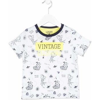 textil Børn T-shirts m. korte ærmer Losan 815-1004AC hvid