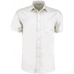 textil Herre Skjorter m. korte ærmer Kustom Kit KK141 White