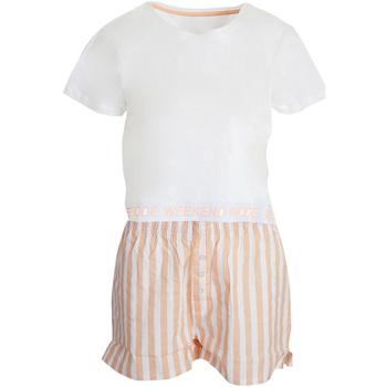 textil Dame Pyjamas / Natskjorte Brave Soul  White/Pink