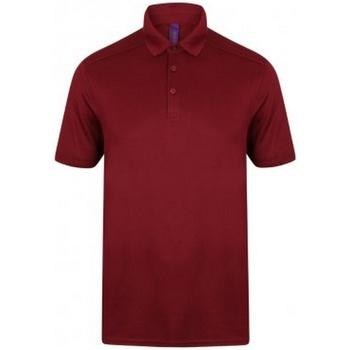textil Herre Polo-t-shirts m. korte ærmer Henbury HB460 Burgundy