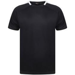 textil T-shirts m. korte ærmer Finden & Hales LV290 Navy/White