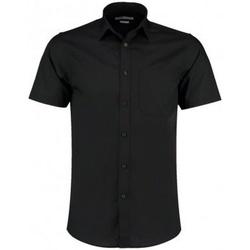 textil Herre Skjorter m. korte ærmer Kustom Kit KK141 Black