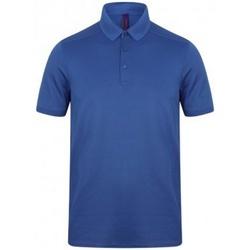 textil Herre Polo-t-shirts m. korte ærmer Henbury HB460 Royal