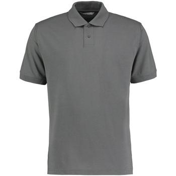 textil Herre Polo-t-shirts m. korte ærmer Kustom Kit KK422 Dark Grey Marl
