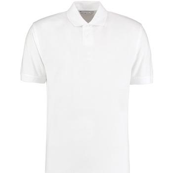 textil Herre Polo-t-shirts m. korte ærmer Kustom Kit KK422 White