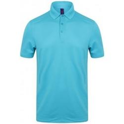 textil Herre Polo-t-shirts m. korte ærmer Henbury HB460 Turquoise