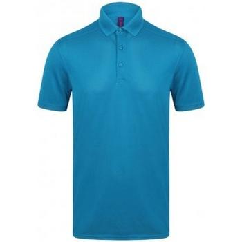 textil Herre Polo-t-shirts m. korte ærmer Henbury HB460 Sapphire