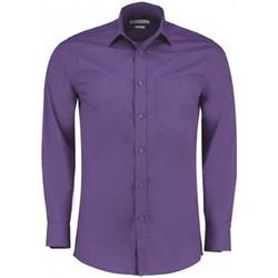 textil Herre Skjorter m. lange ærmer Kustom Kit K142 Purple