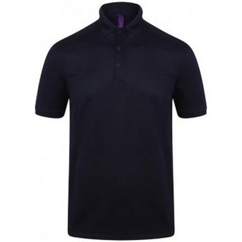 textil Herre Polo-t-shirts m. korte ærmer Henbury HB460 Oxford Navy