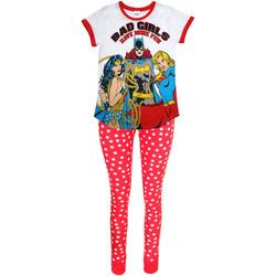 textil Dame Pyjamas / Natskjorte Dc Comics  White