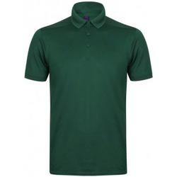 textil Herre Polo-t-shirts m. korte ærmer Henbury HB460 Bottle
