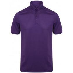 textil Herre Polo-t-shirts m. korte ærmer Henbury HB460 Bright Purple