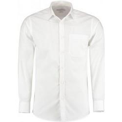 textil Herre Skjorter m. lange ærmer Kustom Kit K142 White