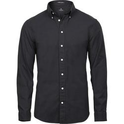 textil Herre Skjorter m. lange ærmer Tee Jays TJ4000 Black