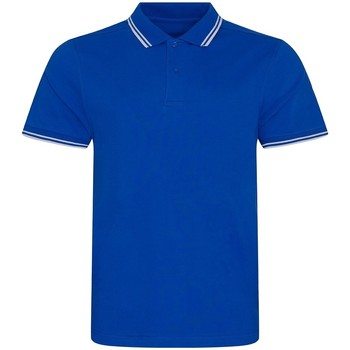 textil Herre Polo-t-shirts m. korte ærmer Awdis JP003 Royal/White