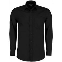 textil Herre Skjorter m. lange ærmer Kustom Kit K142 Black