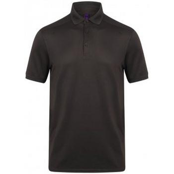 textil Herre Polo-t-shirts m. korte ærmer Henbury HB460 Dark Grey