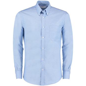 textil Herre Skjorter m. lange ærmer Kustom Kit KK182 Light Blue