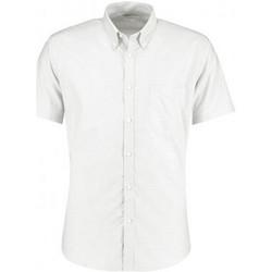 textil Herre Skjorter m. korte ærmer Kustom Kit KK183 White