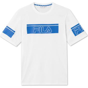 textil Herre T-shirts m. korte ærmer Fila 683085 hvid