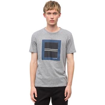textil Herre T-shirts m. korte ærmer Calvin Klein Jeans K10K102679 Grå