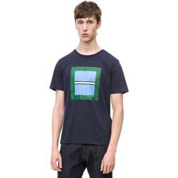 textil Herre T-shirts m. korte ærmer Calvin Klein Jeans K10K102679 Blå