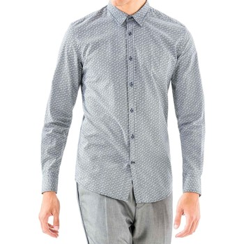 textil Herre Skjorter m. lange ærmer Antony Morato MMSL00501 FA430345 Blå