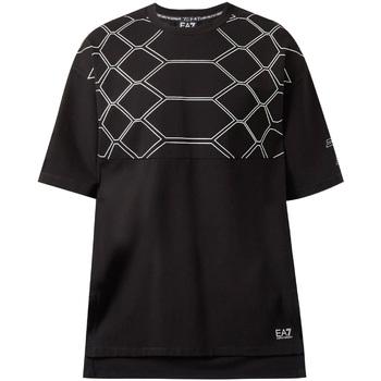 textil Herre T-shirts m. korte ærmer Ea7 Emporio Armani 6ZPT43 PJQ0Z Sort