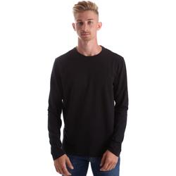 textil Herre Langærmede T-shirts Gas 300187 Sort