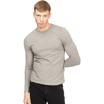 textil Herre Langærmede T-shirts Gas 300187 Grå
