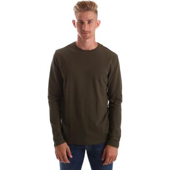 textil Herre Langærmede T-shirts Gas 300187 Grøn