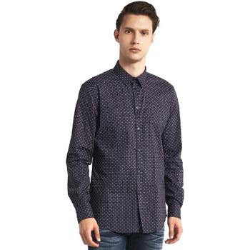 textil Herre Skjorter m. lange ærmer Gaudi 821BU45005 Grå
