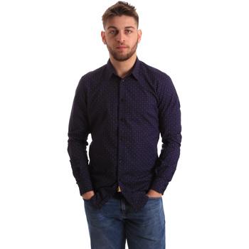 textil Herre Skjorter m. lange ærmer Gaudi 821BU45012 Blå