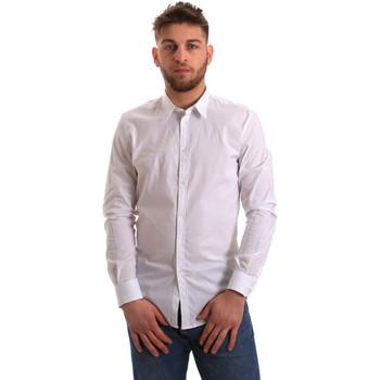 textil Herre Skjorter m. lange ærmer Gaudi 821BU45014 hvid