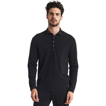 textil Herre Polo-t-shirts m. lange ærmer Gaudi 821FU64012 Sort