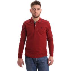 textil Herre Polo-t-shirts m. lange ærmer Key Up 2RG71 0001 Rød