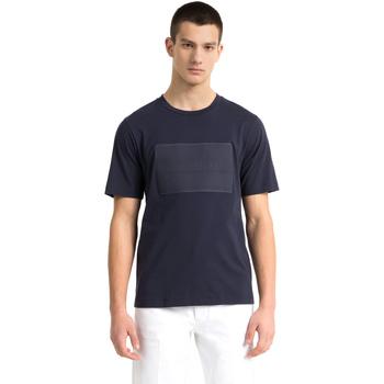 textil Herre T-shirts m. korte ærmer Calvin Klein Jeans J30J307868 Blå