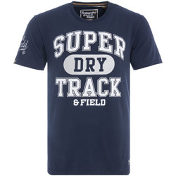 textil Herre T-shirts m. korte ærmer Superdry M10600NR Blå