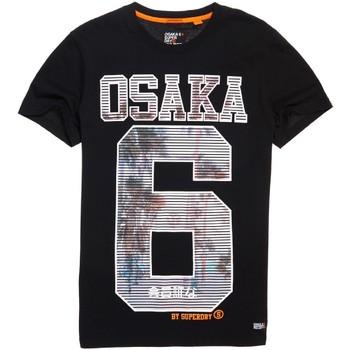textil Herre T-shirts m. korte ærmer Superdry M10003HQ Sort