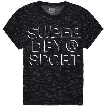 textil Dame T-shirts m. korte ærmer Superdry GS30042AR Sort