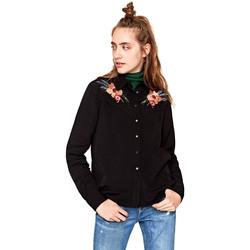 textil Dame Skjorter / Skjortebluser Pepe jeans PL303121 Sort