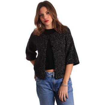 textil Dame Veste / Cardigans Gaudi 821FD53044 Sort