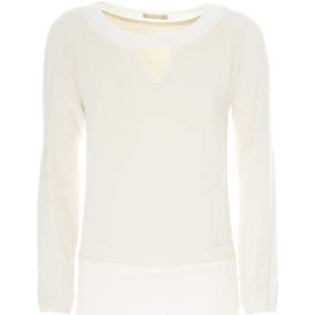 textil Dame Pullovere Nero Giardini A862370D hvid