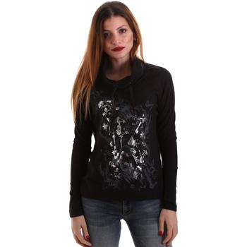 textil Dame Langærmede T-shirts Key Up 5VG84 0001 Sort