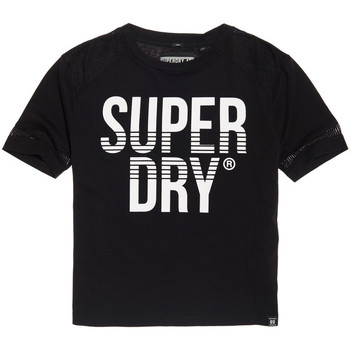 textil Dame T-shirts m. korte ærmer Superdry G60003TQ Sort
