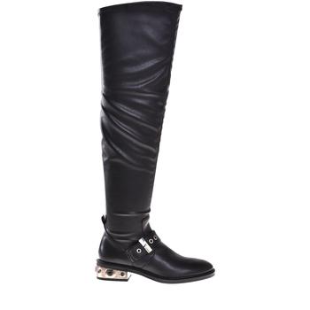 Sko Dame Chikke støvler Elvio Zanon I8406P Sort
